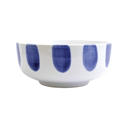 Vietri Santorini Dot Footed Serving Bowl