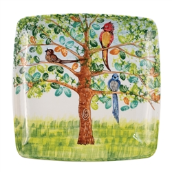 Vietri Birds Square Wall Plate