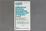 Albuterol Sulfate Inhalation Solution, 0.5% - 5 mg/mL - 20mL