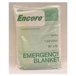 Emergency Blanket, Yellow 58x90""