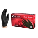 BX3 Black Nitrile Industrial Gloves - Box of 100