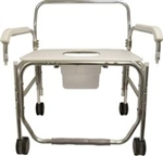 Convaquip Model 1328XDP-DAU Transport Shower Chair w/ Pail and Droparms