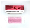 3 Ply Surgical Face Mask - Pink - Box of 50