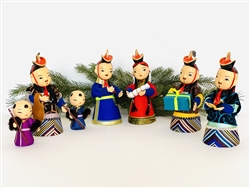 Mongolian Silk Nativity