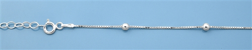 Sterling Silver Anklet - 10 inch