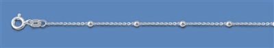 Silver Italian Chain - Cable Chain w/ Beads