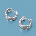 Silver Huggie Earrings W/ CZ