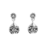 Silver Earrings with CZ - Ladybug