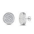 Silver Earrings with CZ - Circles