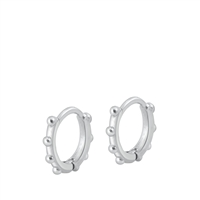 Silver Huggie Earrings