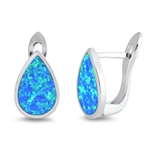 Silver Lab Opal Earrings