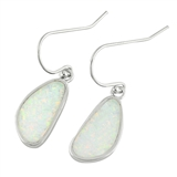 Silver Earrings W/ Lab Opal