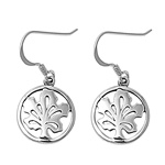Silver Earrings - Rounded Maple