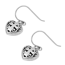 Silver Earrings - Cross and Heart