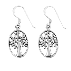 Silver Earrings - Tree of Life