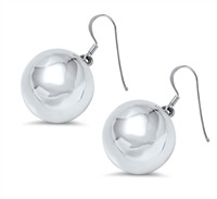 Silver Earrings - Ball