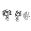 Silver Earrings - Angel