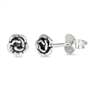 Silver Earrings - Rose