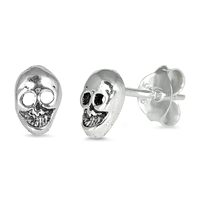 Silver Earrings - Skull