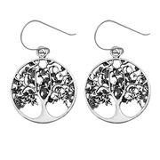 Silver Stud Earrings - Tree of Life