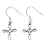 Silver Stud Earrings - Celtic Cross