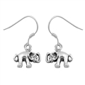 Silver Earrings - Elephant