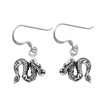 Silver Earrings - Dragon