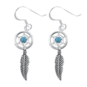 Silver Earrings - Dream Catcher