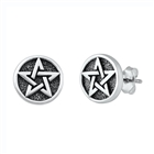 Silver Stud Earrings - Jewish Star