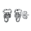 Silver Stud Earrings - Lobster