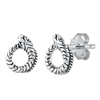Silver Stud Earrings - Snake