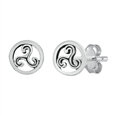 Silver Stud Earrings - Triquetra