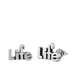 Silver Stud Earrings - Life