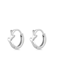 Silver Stud Earrings - Branch