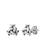 Silver Stud Earrings - Celtic Knot