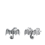 Silver Stud Earrings - Dragon