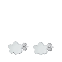Silver Stud Earrings - Cloud