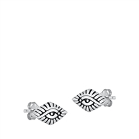 Silver Stud Earrings - All Seeing Eye