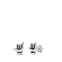 Silver Stud Earrings - Shaka