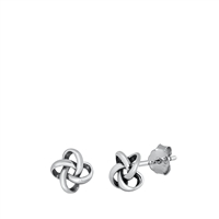 Silver Stud Earrings - Knot