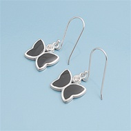 Silver Earrings W/ Stone - Butterfly