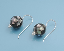 Silver Earrings W/ Stone