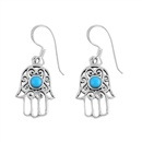 Silver Earrings - Hamsa