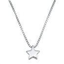 Silver Necklace W/ CZ - Star