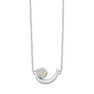 Silver Necklace - Crescent Moon