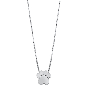 Silver Necklace - Paw Print