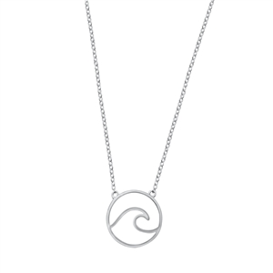 Silver Necklace - Wave