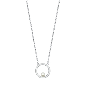 Silver Necklace - Pearl