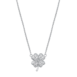 Silver Necklace - Four Leaf Clover