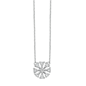 Silver Necklace - Snowflake